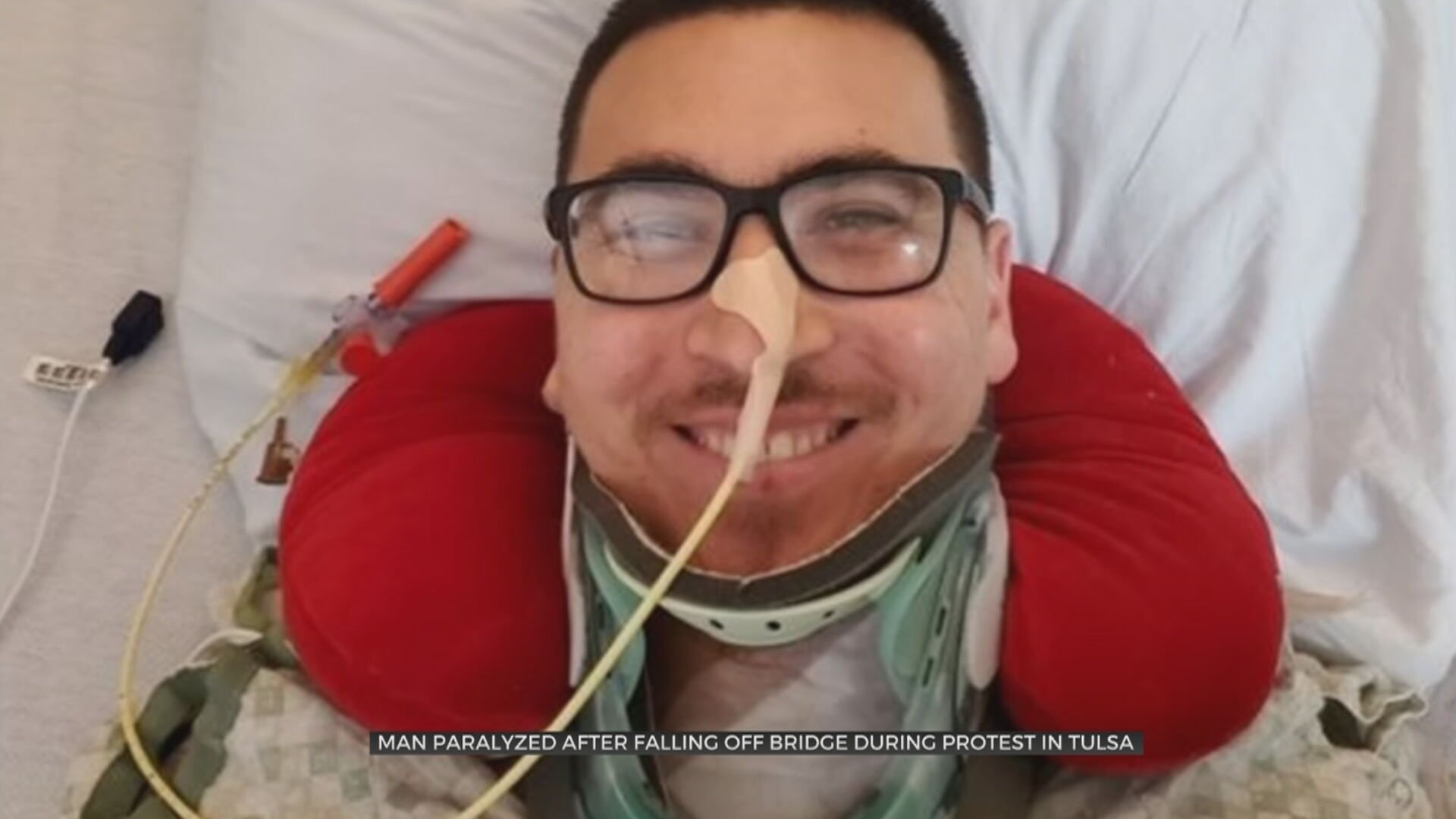 Protester Paralyzed After Falling From Tulsa Bridge Continues Recovery In Hospital