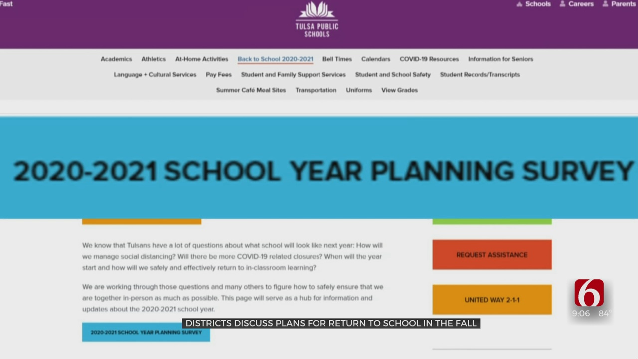 Green Country School Districts Using Surveys, Health Measures For Planning Next Year