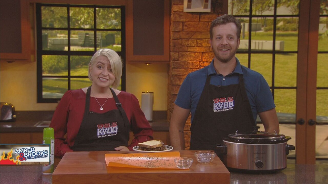 Amber & Brooks In The Kitchen: Espresso-Rubbed Slow-Cooked Brisket.