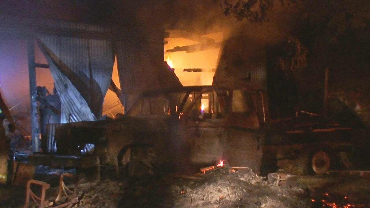 Truck Fire Spreads, Damages Former Mechanical Shop In Oakhurst