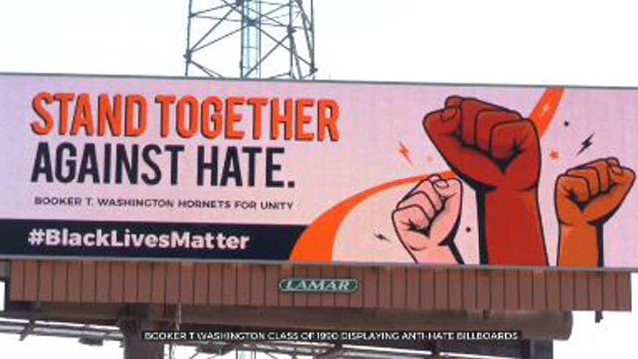 Booker T. Washington Alumni Create 'Silence Hate' billboards