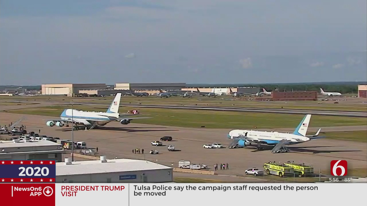 President Trump Arrives at Tulsa International Airport