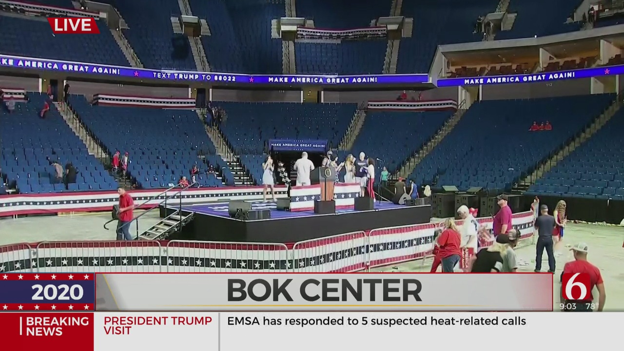Presidential Rally Ends, Capacity Less Than Expected