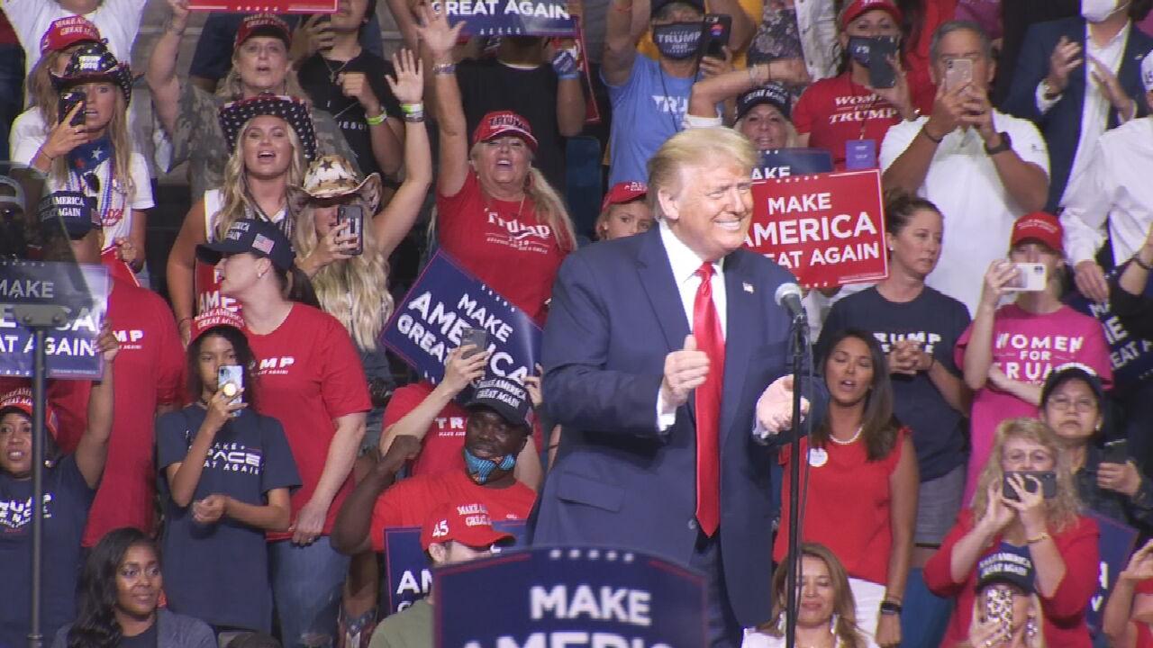 President Trump Holds 1st Rally Since Coronavirus Restrictions Shut Down U.S.