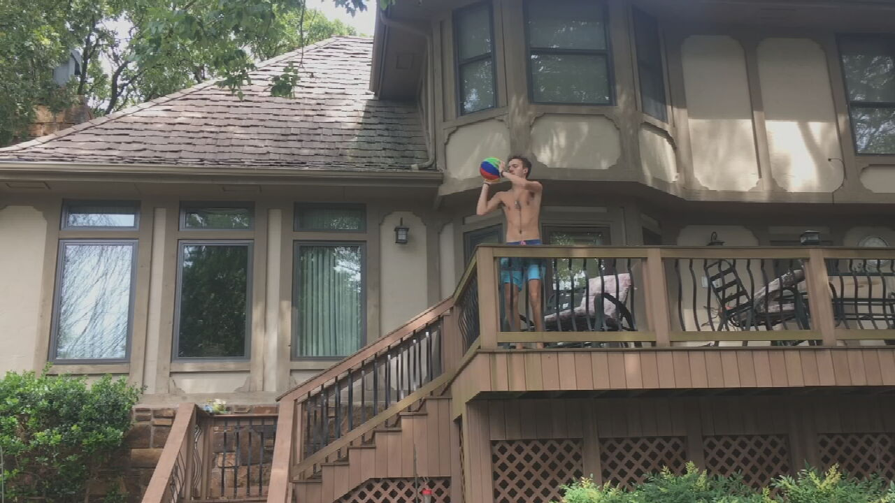 WATCH: LeAnne's Son Nick Sinks Trick Shots By The Pool