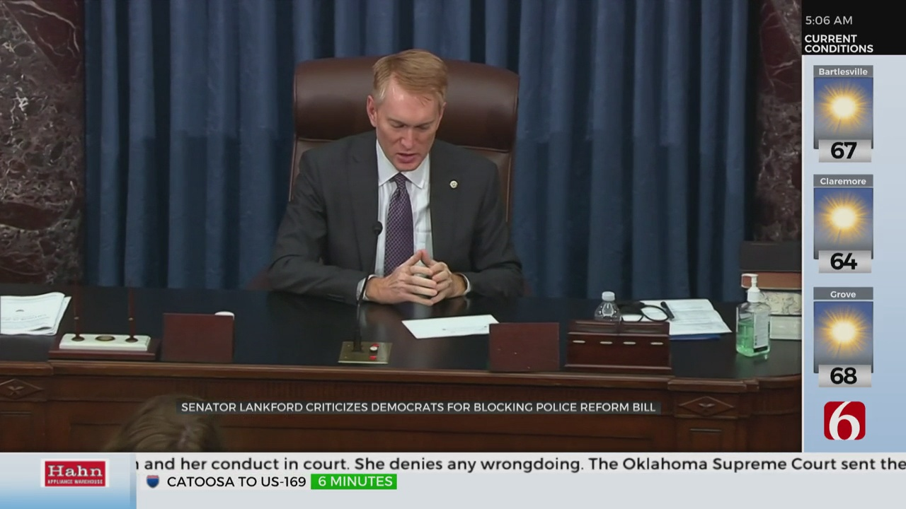 Sen. Lankford Criticizes Democrats For Blocking Police Reform Bill