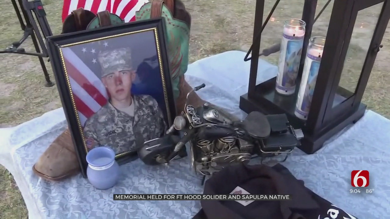 Memorial Held For Sapulpa Native And Fort Hood Soldier