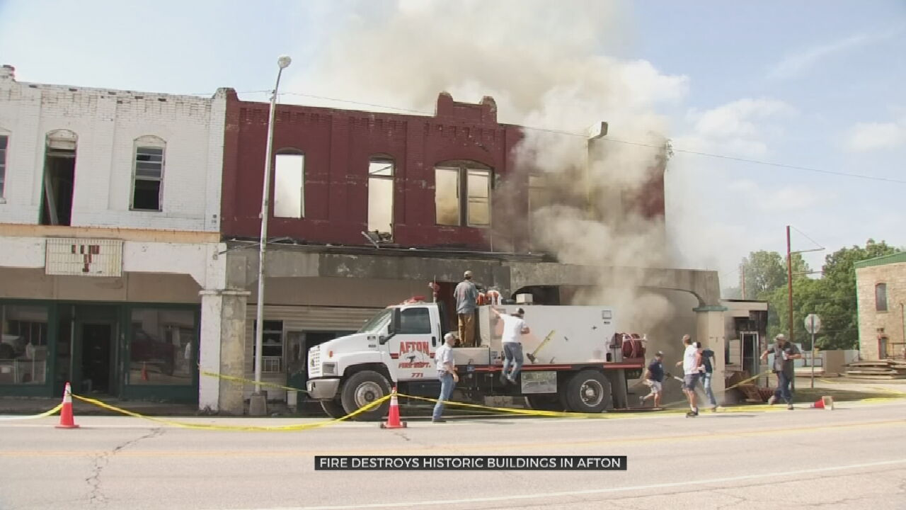 Fire Destroys More Than Century-Old Building In Afton