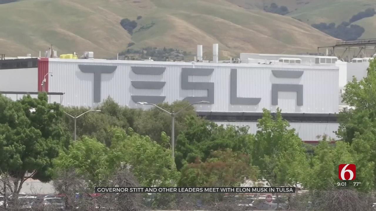 Tesla's Elon Musk Makes Surprise Visit To Tulsa