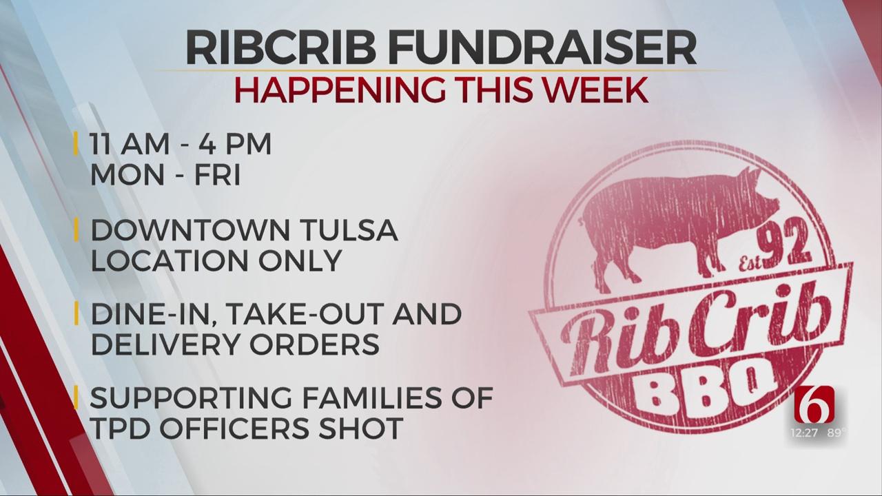 Downtown Tulsa Rib Crib Holds 'We Love You Blue' Fundraiser