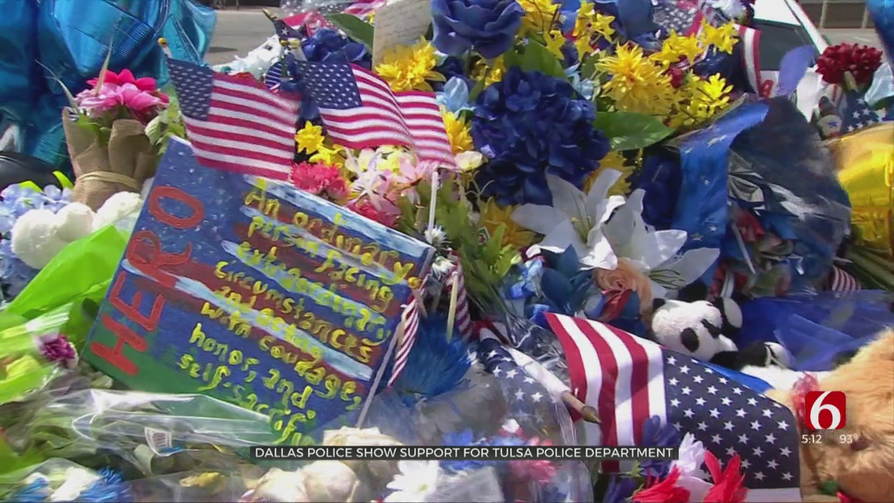 Dallas Police Show Support, Understanding To Tulsa Police Department