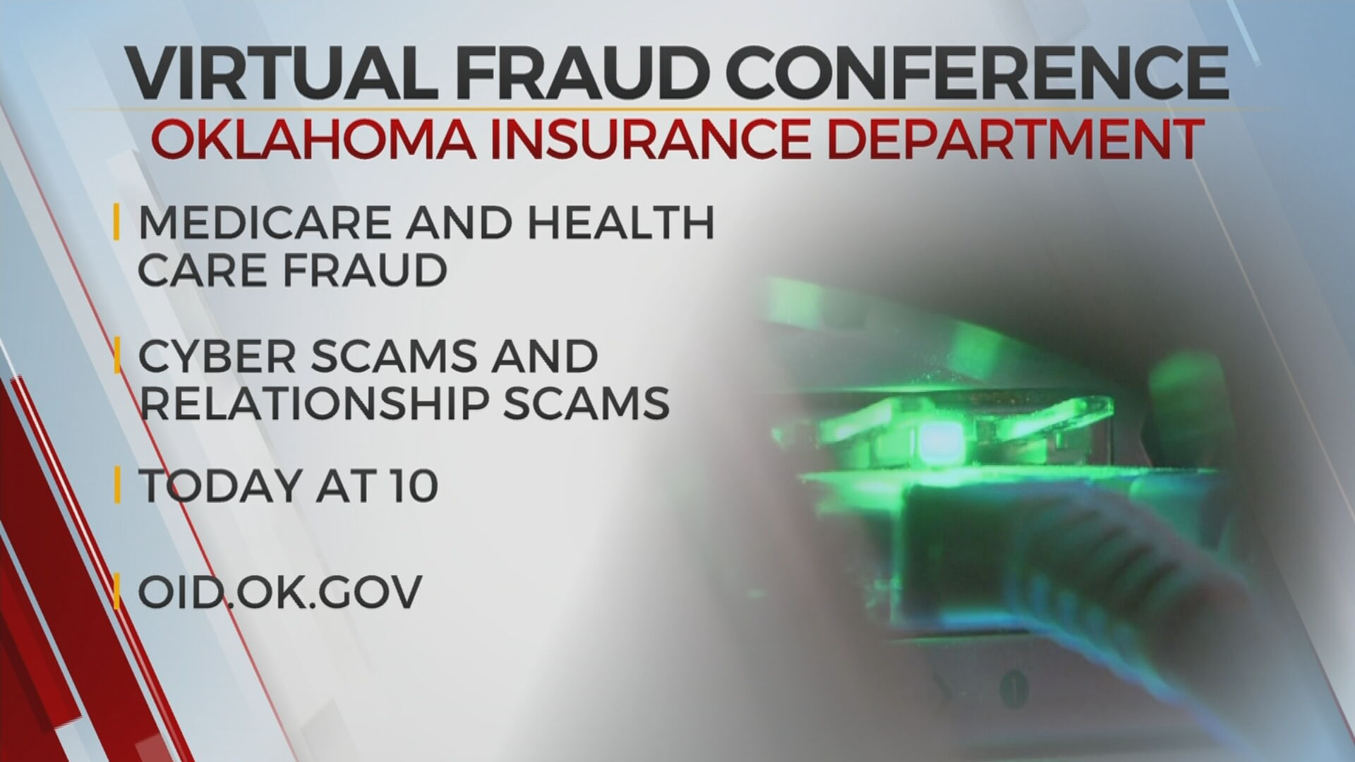 Oklahoma Insurance Department, Attorney General's Office Hold Virtual Fraud Conference