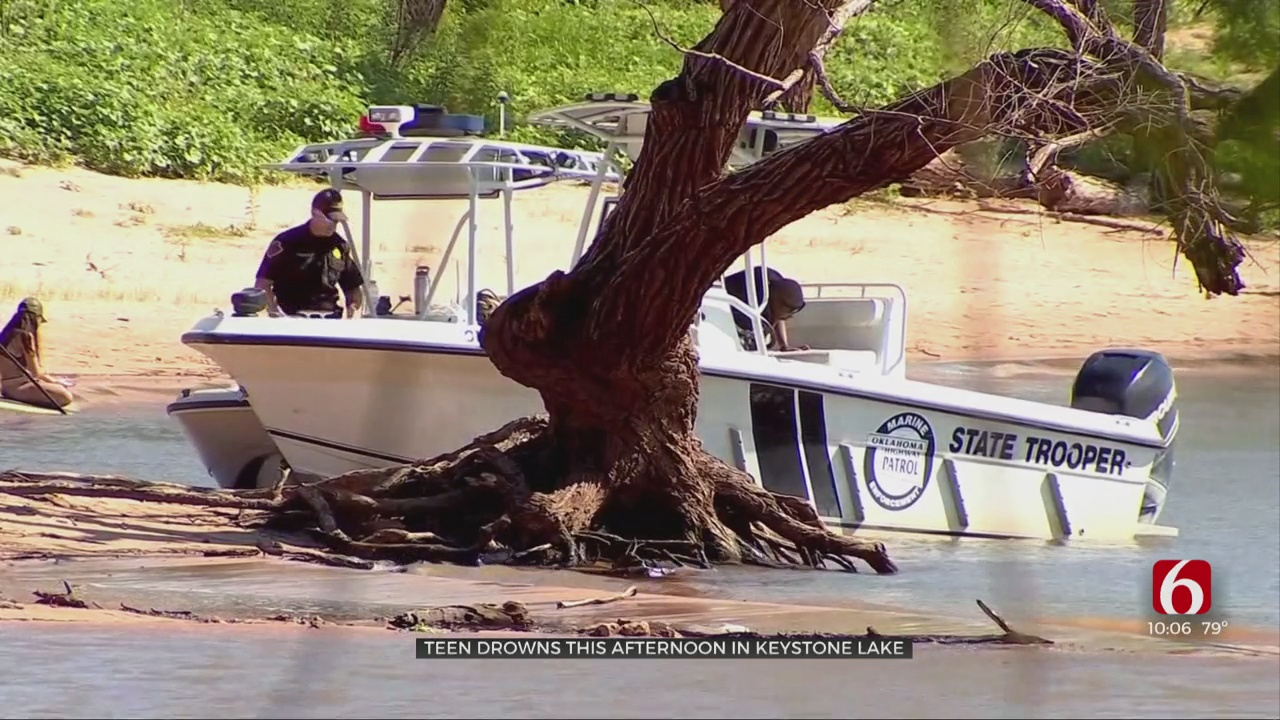 Search Underway For Keystone Lake Drowning Victim