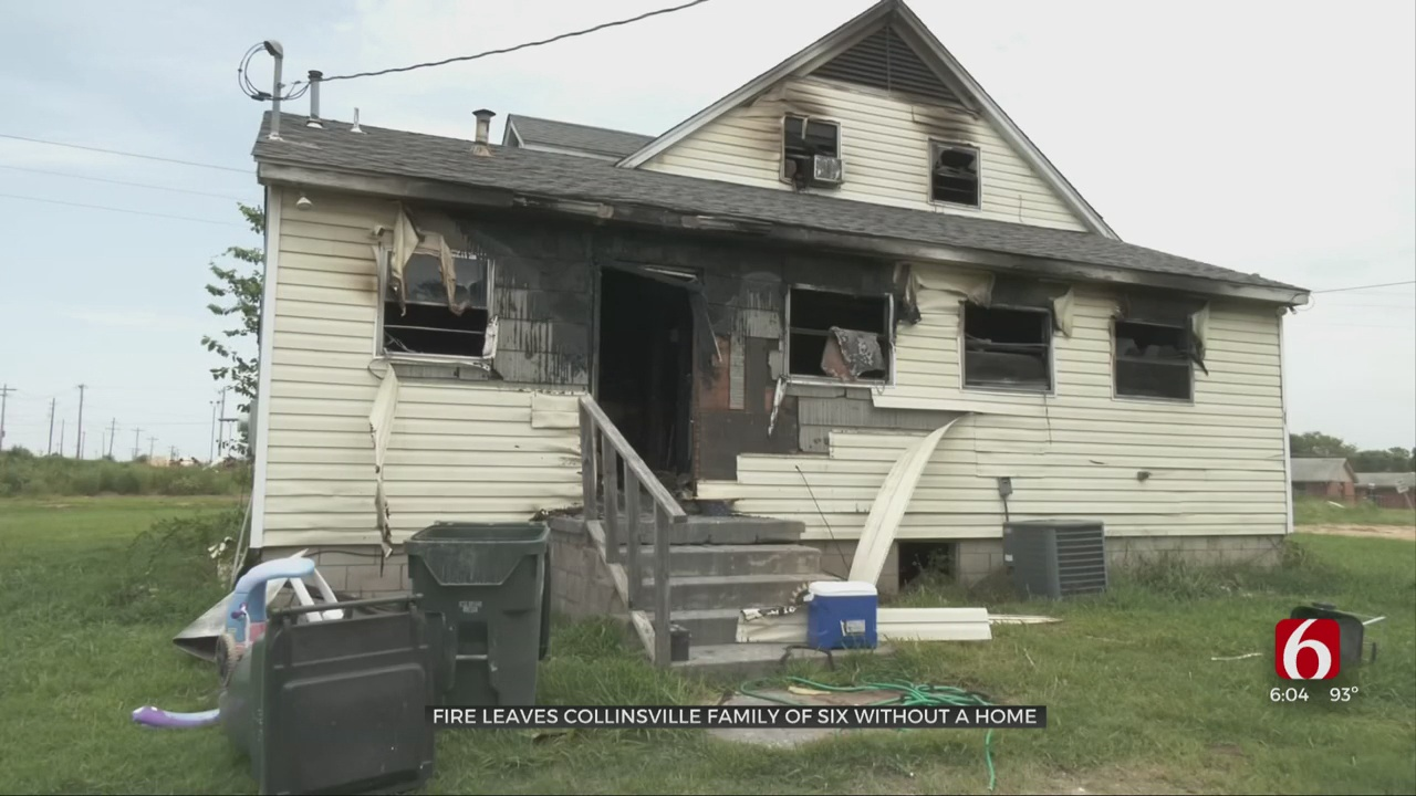 Fire Leaves Collinsville Family Of 6 Without Home