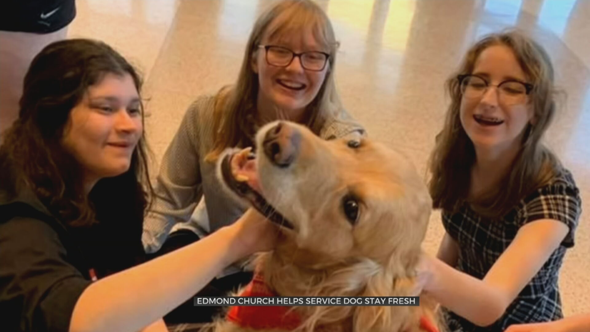 Church Helps Service Dog Who Has Been Out Of Service During COVID-19