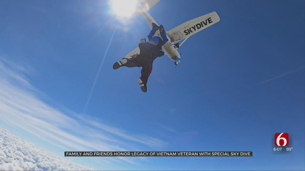 Friends Honor Skiatook Vietnam Veteran With Memorable Skydive