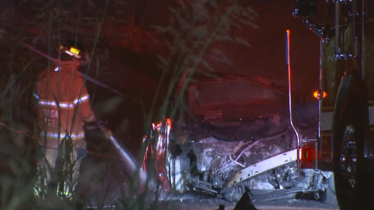 Woman In Hospital After Fiery Crash On East Hwy 75