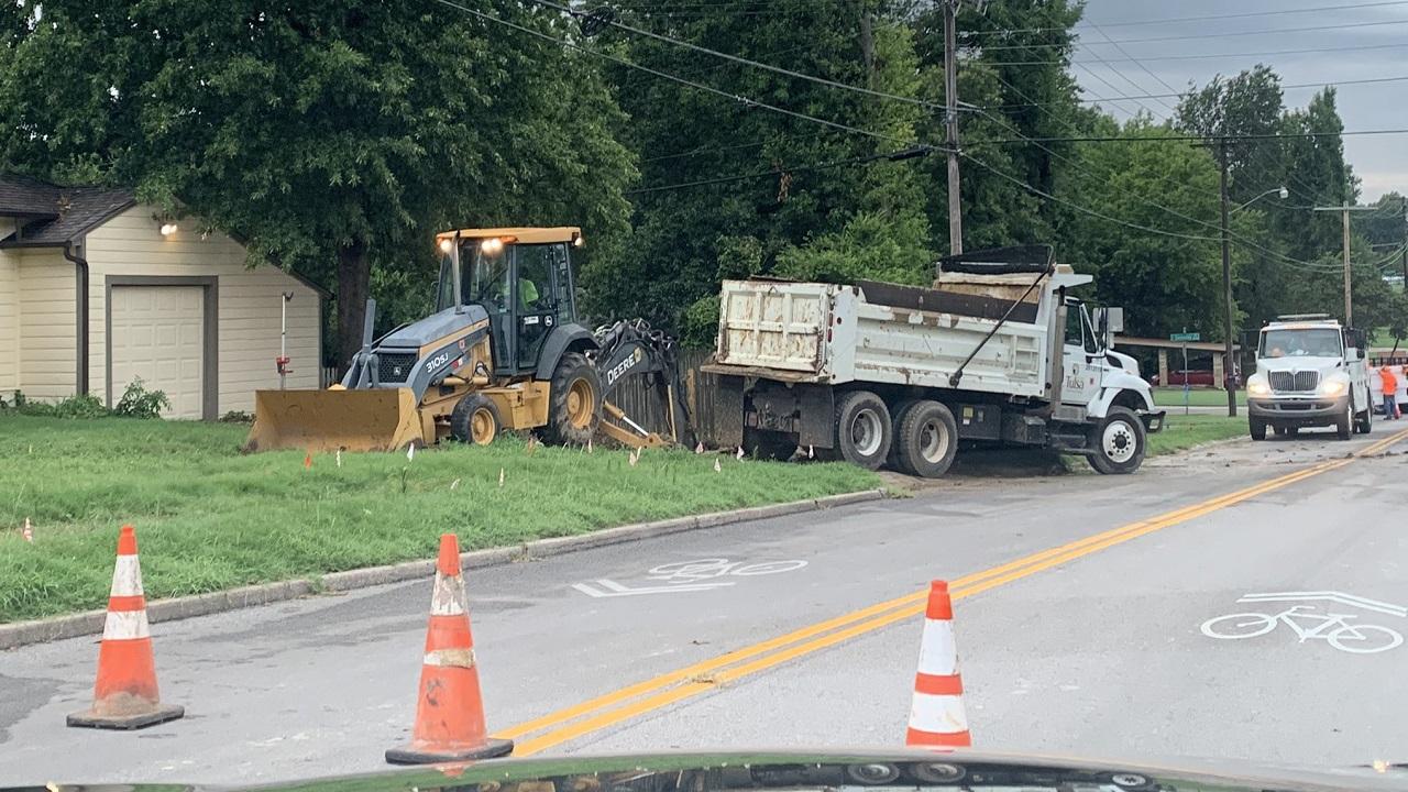 Tulsa Crews Work To Repair Water Break Along East 36th St
