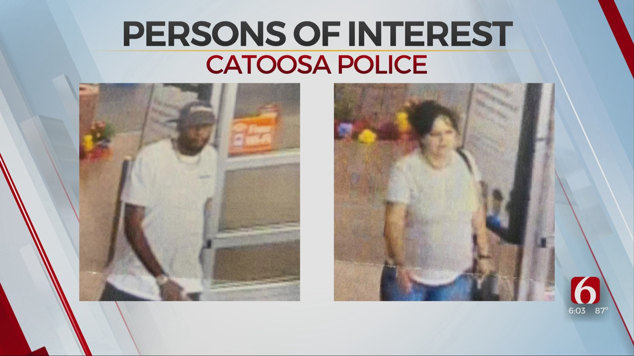 Catoosa Police Searching To Identify 2 In Suspected Credit Card Fraud