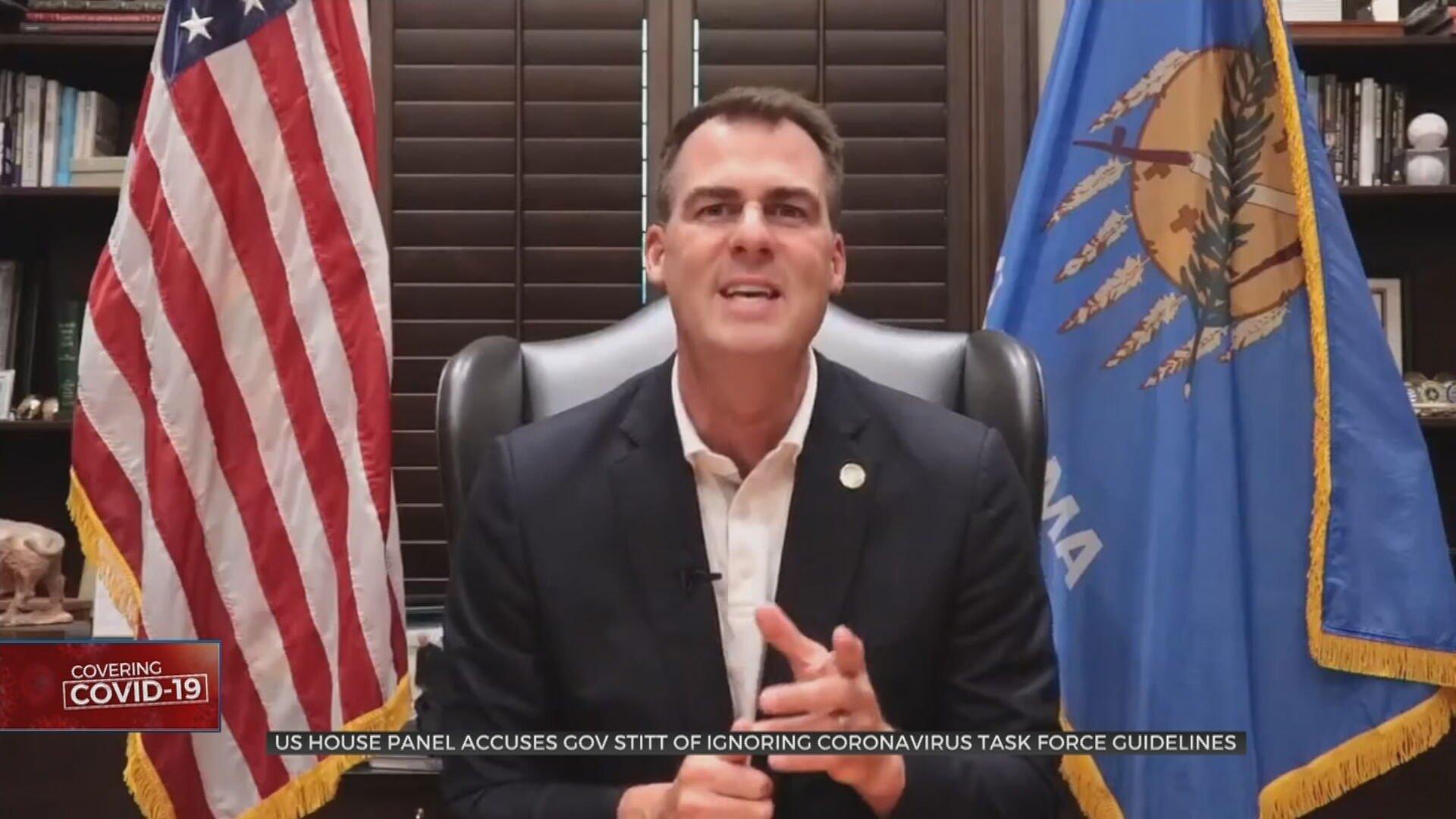 US House Panel Accuses Gov. Stitt Of Ignoring Coronavirus Task Force Guidelines