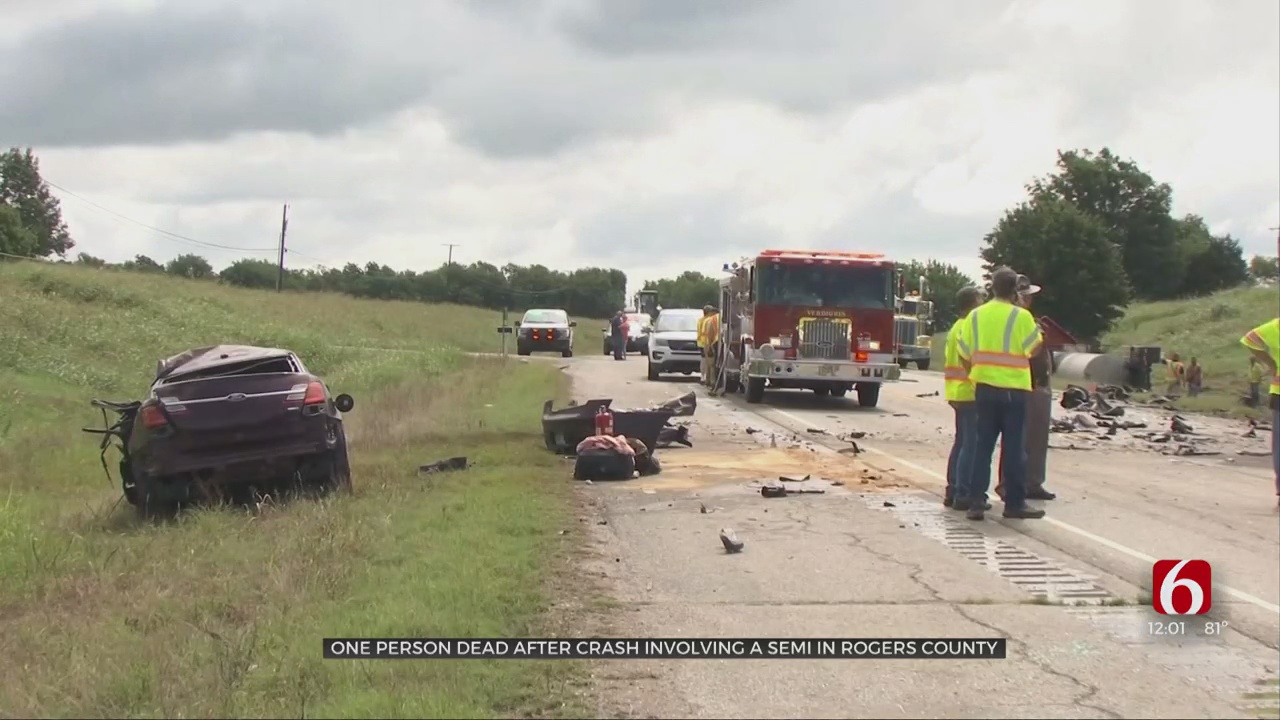 Deadly Crash Involving Semi Closes Highway 266  Near Port Of Catoosa