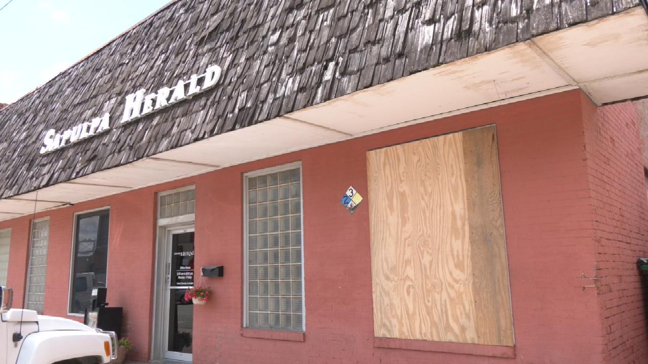 Sapulpa Herald Building Vandalized 3 Straight Nights