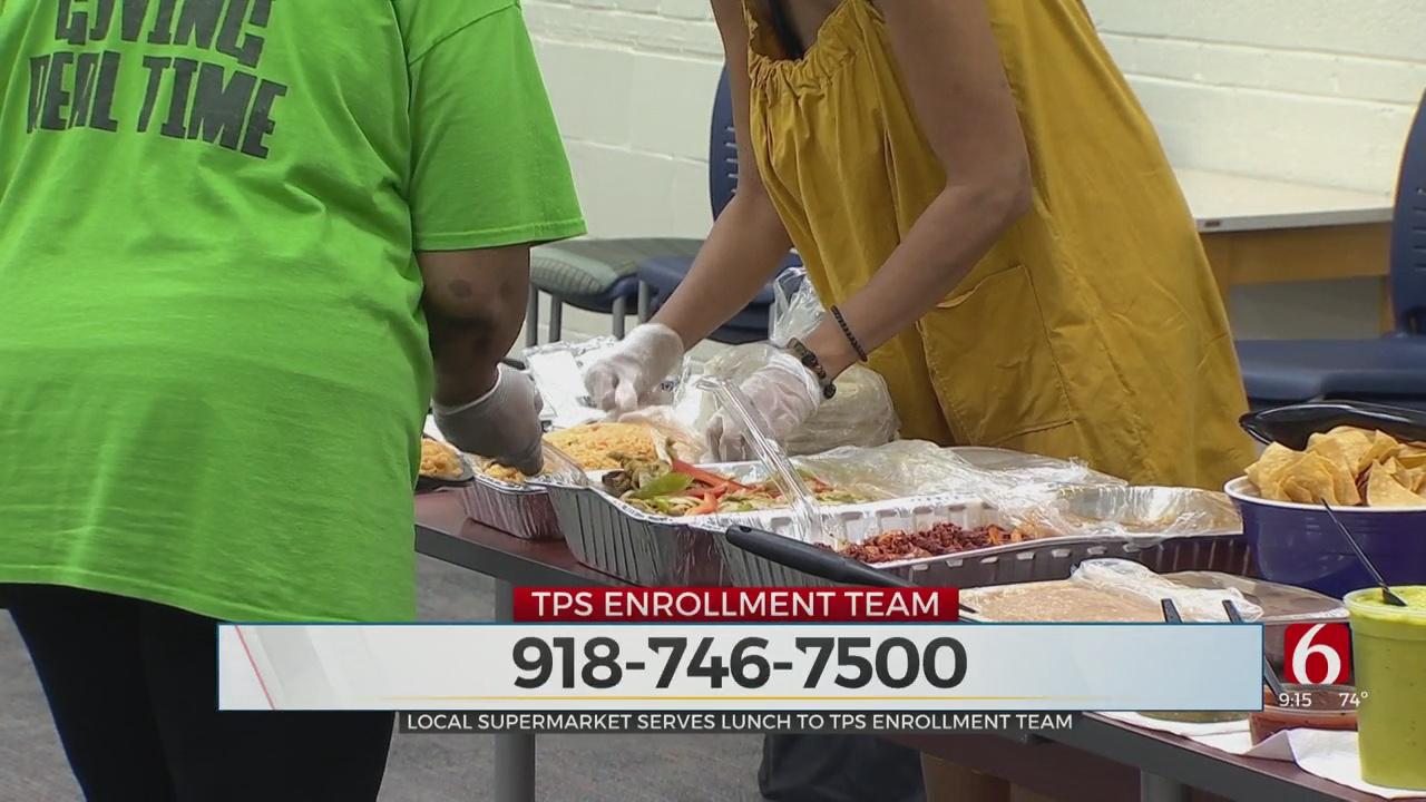 Local Supermarket Serves Lunch To TPS Enrollment Team