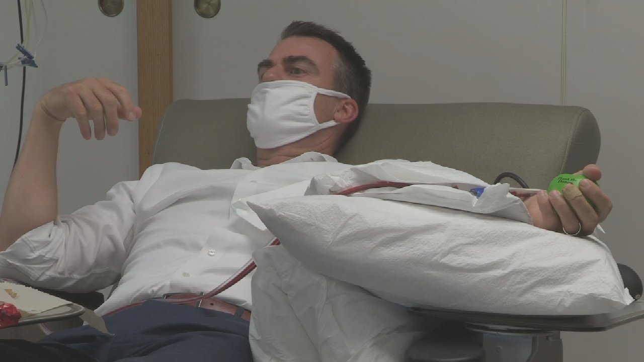 Gov. Kevin Stitt Donates Convalescent Plasma, Urges Others To Do The Same