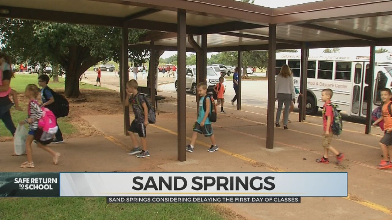 Sand Springs To Consider Delaying First Day Of Class