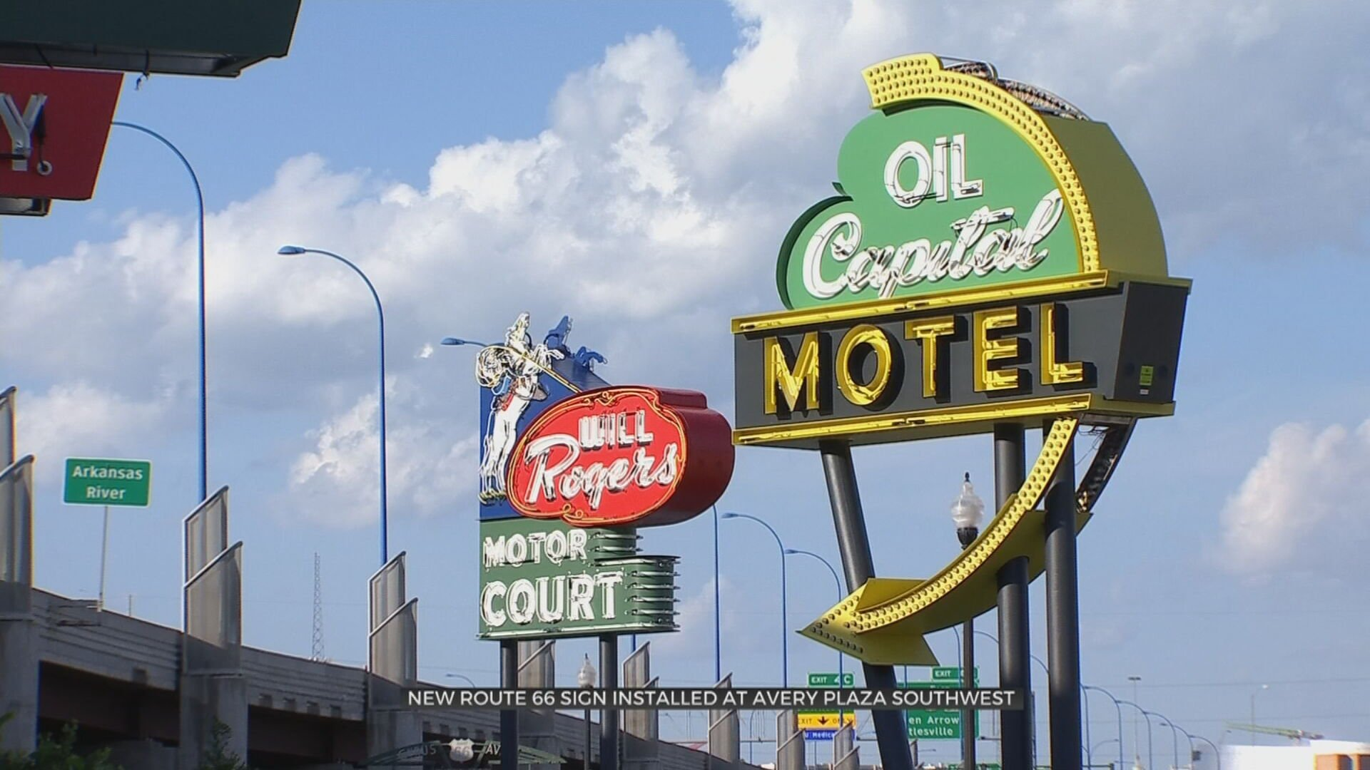 New Neon Route 66 Sign Installed At Avery Plaza Southwest