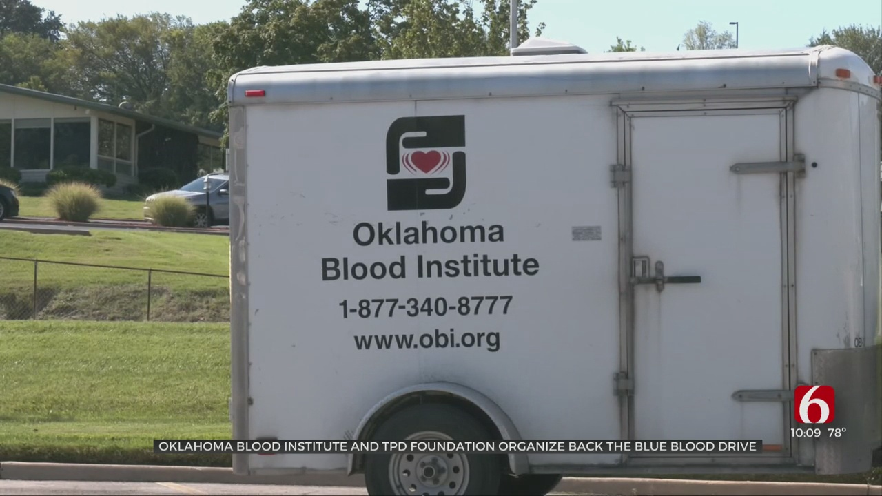 TPD, Oklahoma Blood Institute Collaborate On Blood Drive For Fallen Officer