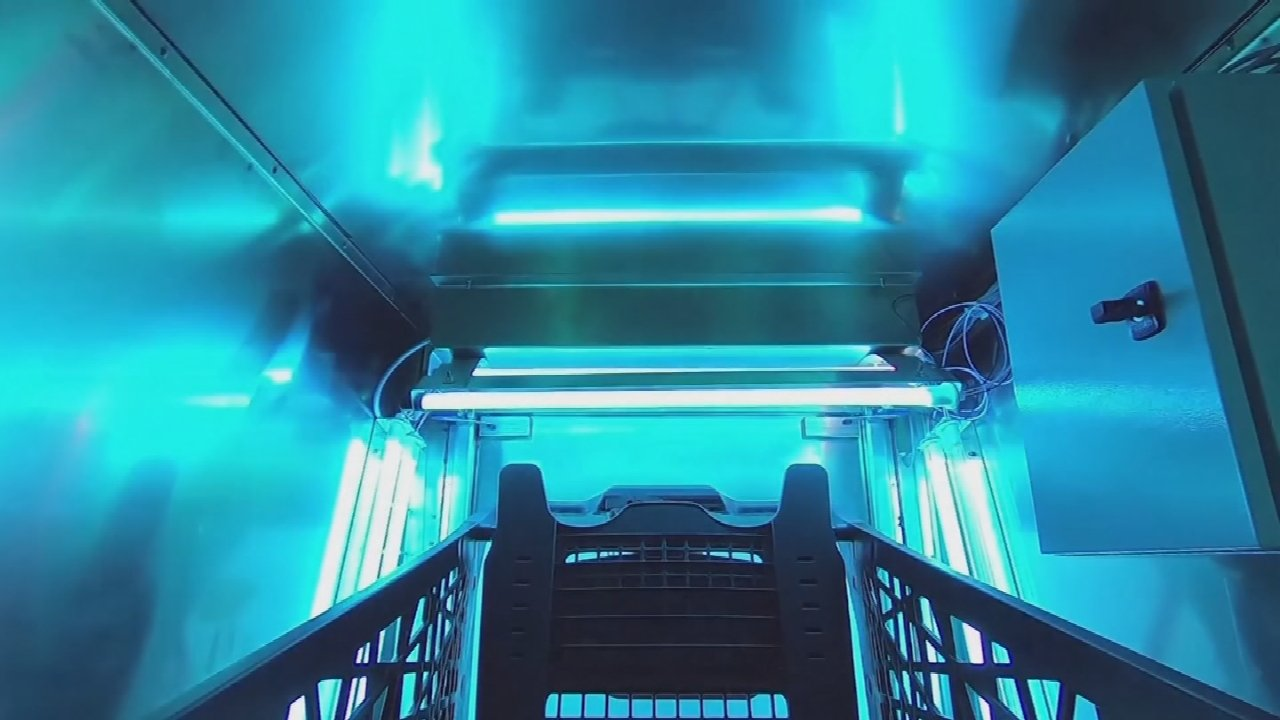 Belgian Engineers Build Machine To Kill Shopping Cart Germs With UV Light
