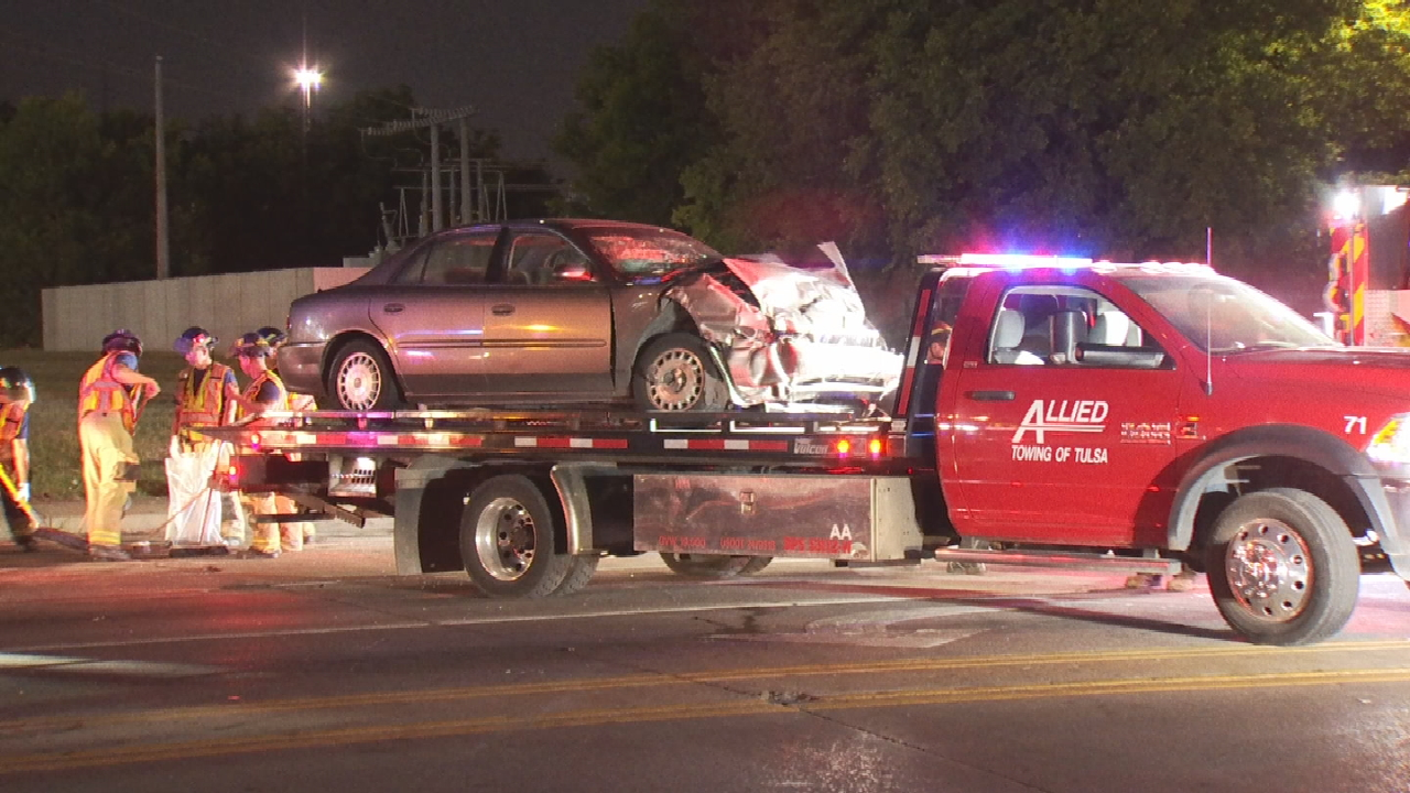 1 In Custody After Stolen Vehicle Chase Ends With Crash In Tulsa