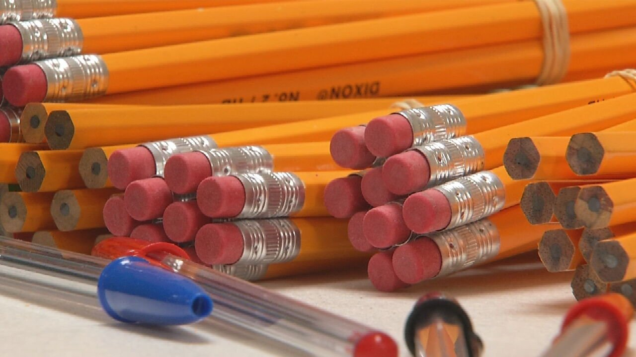 Hamilton Elementary In Tulsa Offering Backpacks Of School Supplies For Students