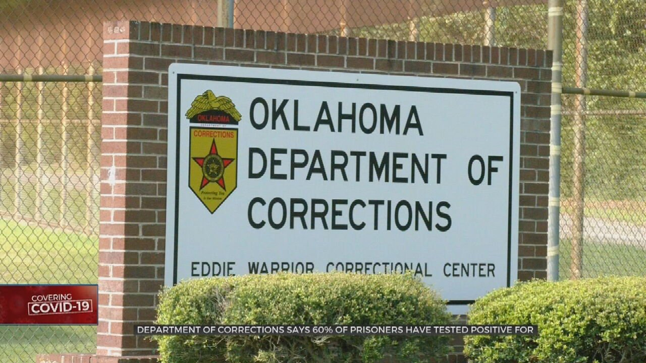 More than 800 prisoners live in open-dorm units at the Eddie Warrior Correctional Center, and The Department of Corrections said nearly 60-percent have tested positive for COVID-19.  News On 6's Ashly
