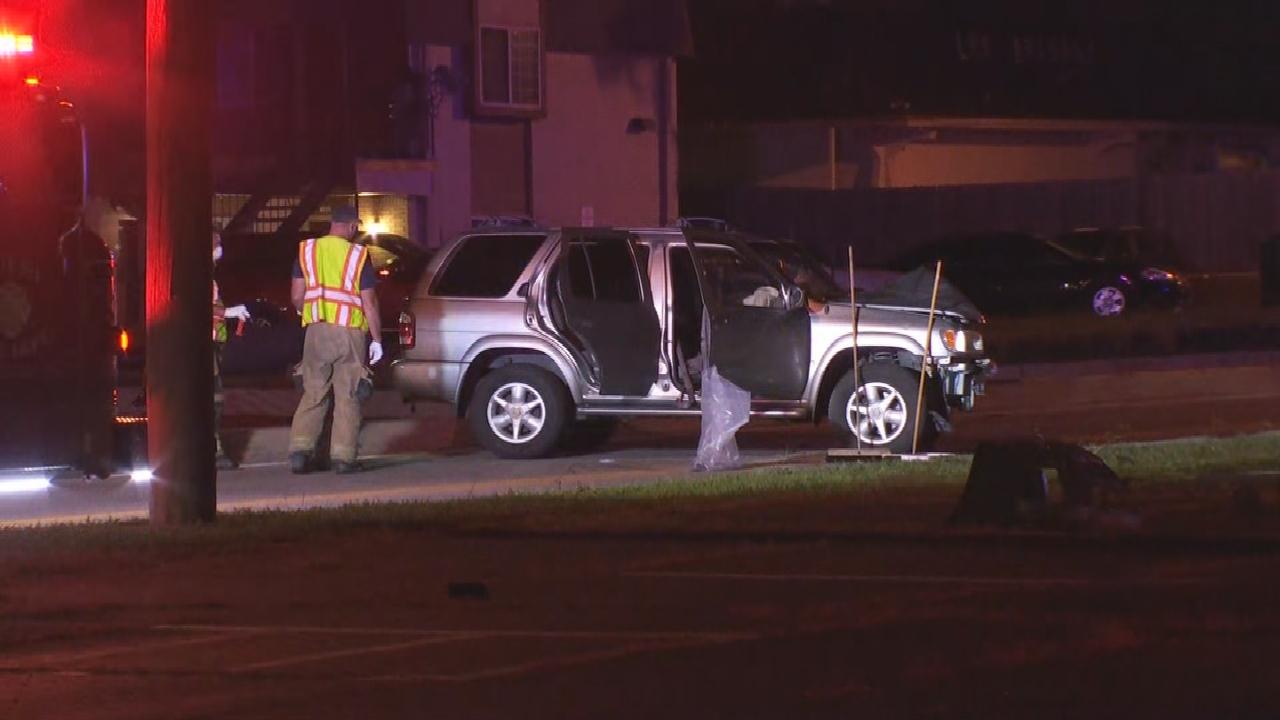 Tulsa Police Investigate Stolen SUV Crash