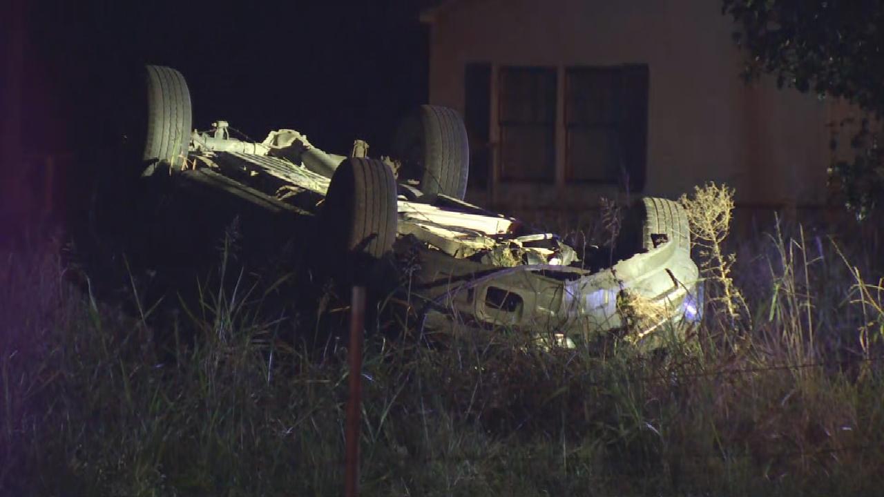 Emergency Crews Respond To Rollover Crash Near Collinsville
