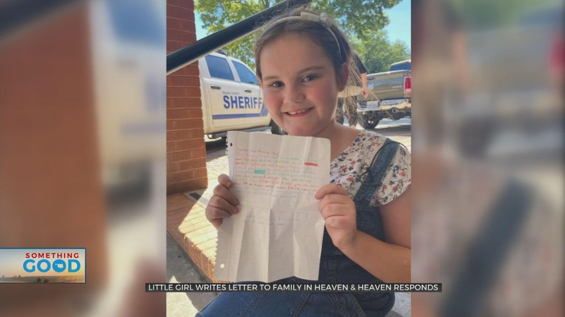 Bartlesville Girl Writes Letter To Family In Heaven & Heaven Responds