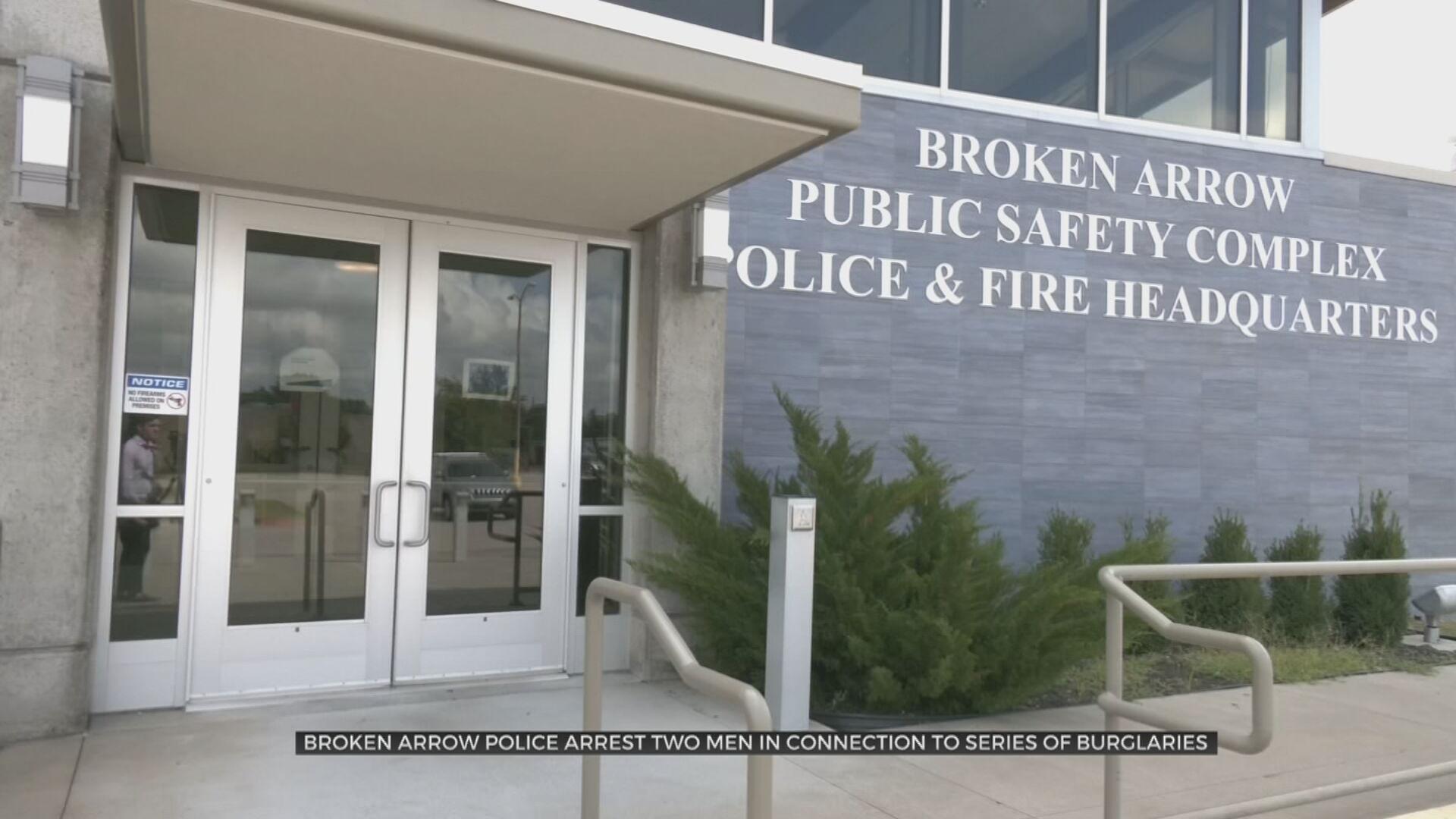 Broken Arrow Police Arrest Two Men In Connection To Series Of Burglaries