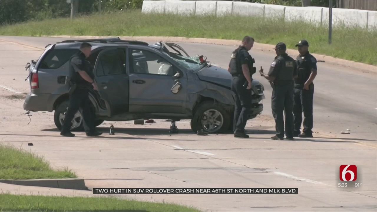 2 People Hospitalized After Rollover Cash In Tulsa