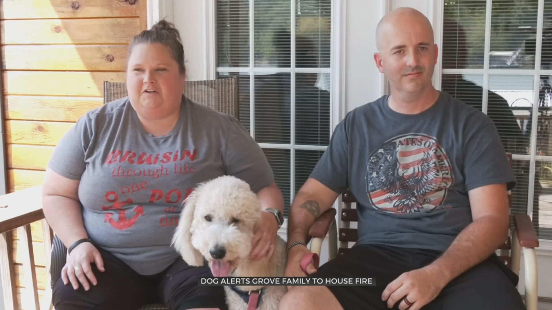 Grove Firefighter Responds To Own House Fire After Dog Alerts Family Inside
