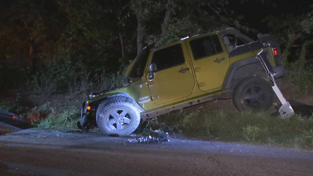 Teen Expected To Be Okay After Rollover Crash In Tulsa