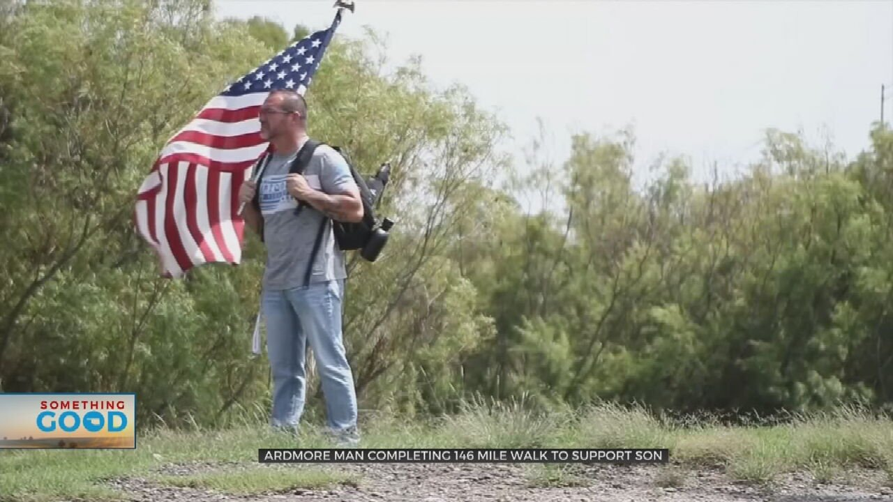 Watch: Ardmore Man Walking 146 Miles In Support Of Son Completing Marine Training