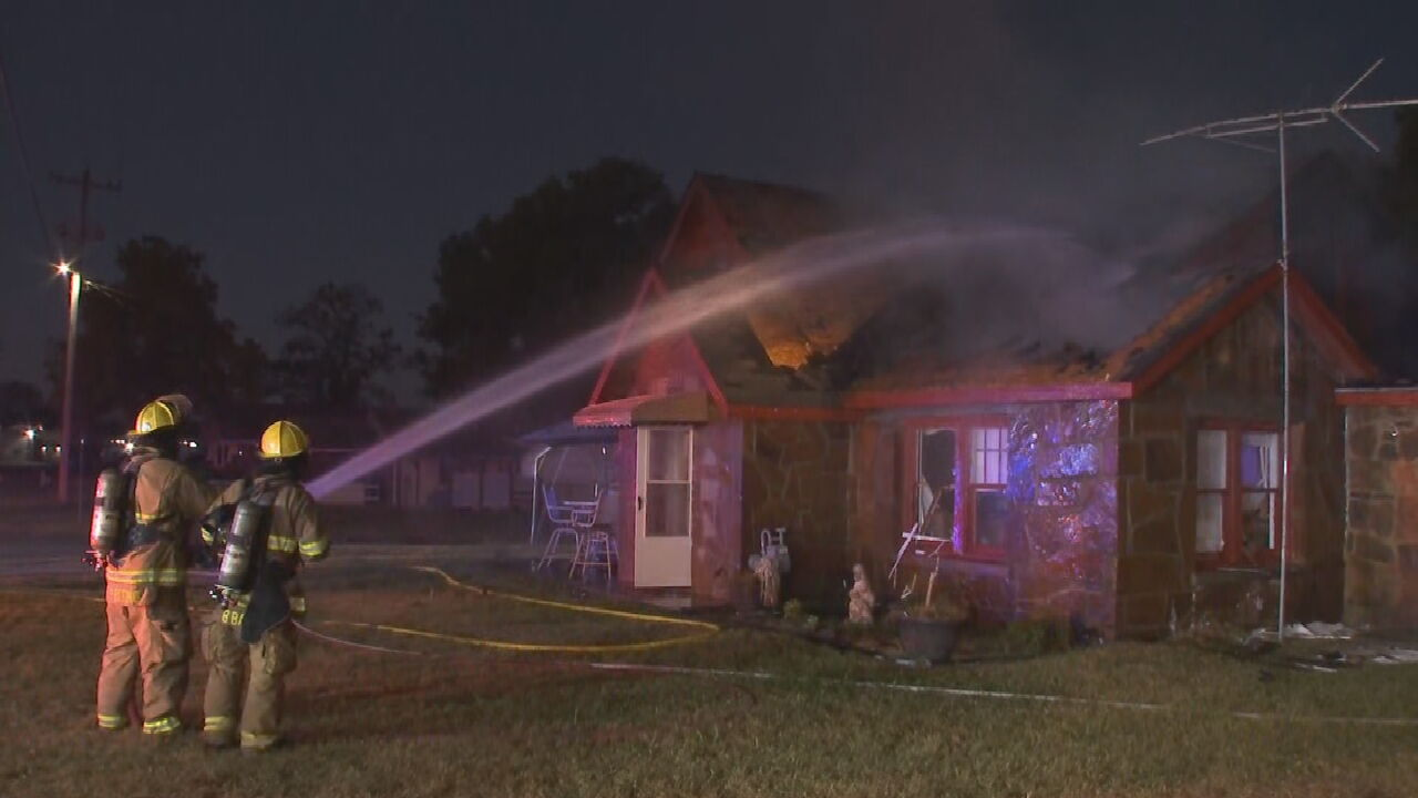 Firefighters Battle Early Morning House Fire In Claremore