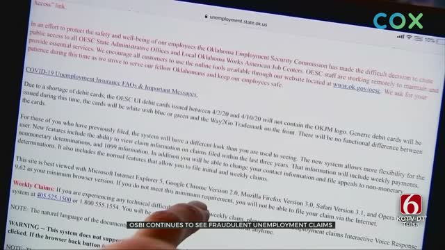 OSBI Says Employment Claim Fraud Is Still Happening