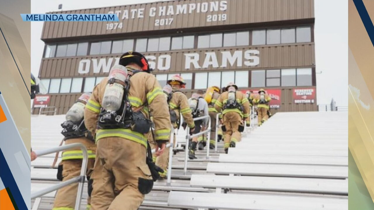 Owasso Firefighters Climb Stairs In Honor Of 9/11 Victims