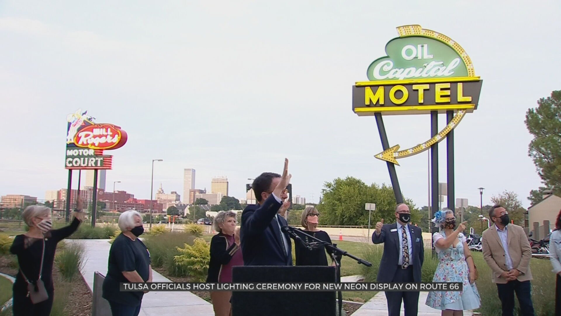 Lights On For New Neon Sign Display On Historic Route 66