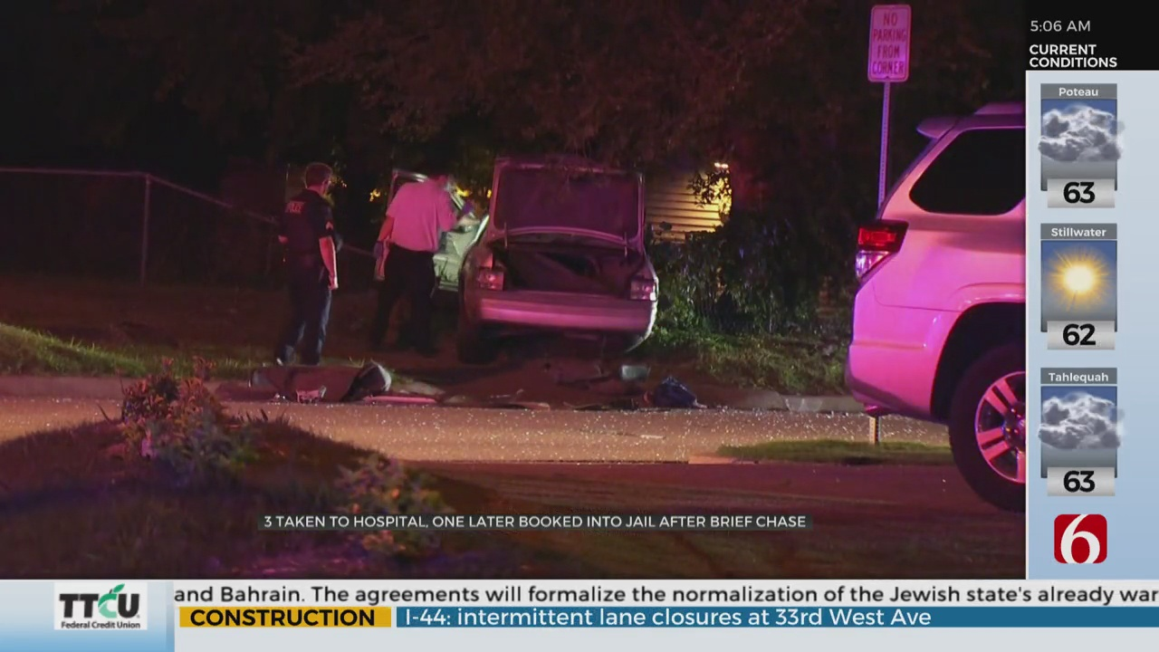 Yale and 66 Three People Taken To Hospital After Police Chase Lead To Collision