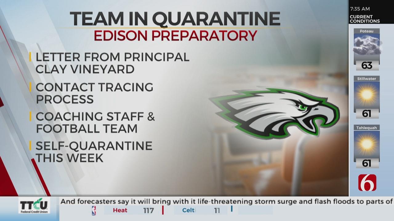 Edison High School Football Team In Quarantine