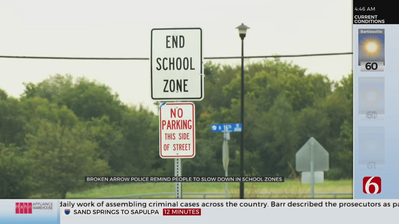 Broken Arrow Police Patrolling School Zones Again